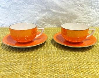 Vintage 2 espresso Mocha coffee coffee cup cup porcelain porcelain ceramic Sammeltassen