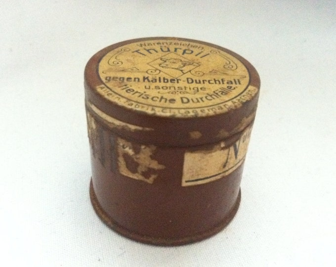 Vintage rare small tin cans with old advertising