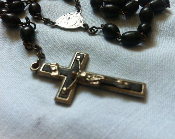 Vintage Rosary Cross Necklace chain
