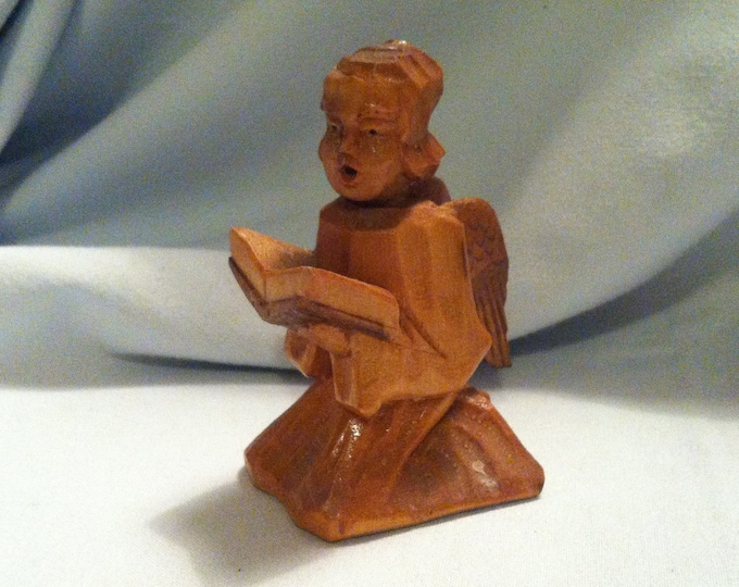 Vintage Wood Carved Angel Putti hand carved decoration