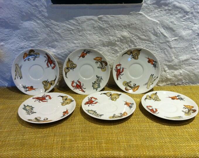 6 Plate ceramic porcelain Krautheim Selb Bavaria Germany, pottery, rustic dishes, dinnerware set, ceramic dish set, serving set