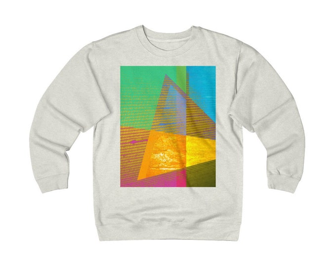 Featured listing image: Vintage Andy Warhol Like Sweatshirt Abstract Art Fleece Crew Graphic Modern Art Retro 70s 80s Sweatshirt Art Gift for Her Gift for Him