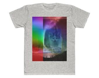 876828cc8 Weird Shirt Cat Shirt Kitty Shirt Aurora Borealis Northern Lights Rainbow Shirt  Tie Dye Shirt Vintage Shirt Retro Shirt Unisex Fitted Tee