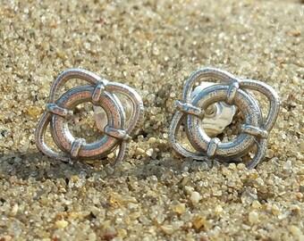 Life Ring Stud Earrings