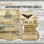 Vintage Look Potion Labels #3, Halloween Apothecary Labels for Jars, Printable, Collection #3