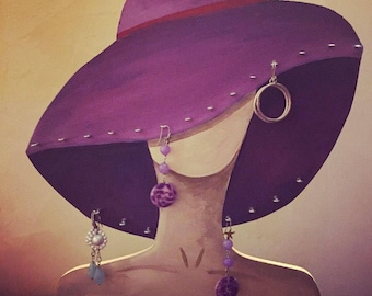 Lady vintage jewellery, earrings