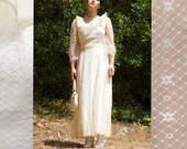 Bohemian Lace Daydream dress 70s dress summer dress boho dress hippy dress floral lace wedding garden party wedding ruffles