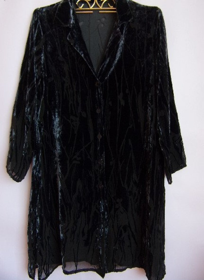 d49cec73fc6a Vintage Women's Shirt/Dark Blue Velvet Shirt/Elegant Boho | Etsy