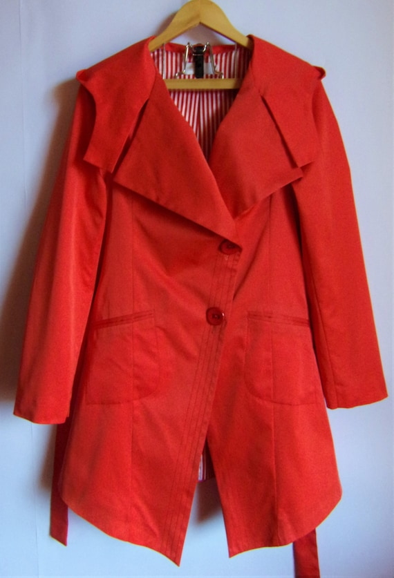 Women's Bright Pink  Trench Coat/ Dust Coat /With