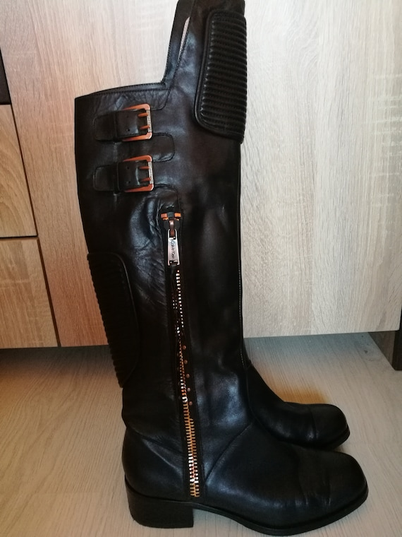 Vintage Womens Long Boots/Over The Knee Genuine Le