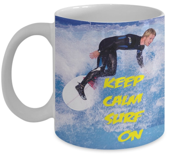 Planche A Voile Keep Calm Surf On En Anglais Seulement Surf Etsy