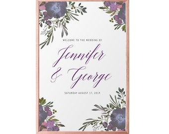 Muted Floral Printable Welcome Sign
