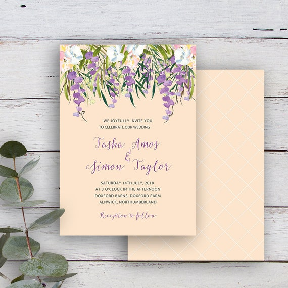 picture relating to Wedding Stationery Printable titled FLORAL CASCADE, Invitation, Printable Templates, Wedding day Invitation Template, Printable Marriage Stationery, Watercolour, Buttermilk