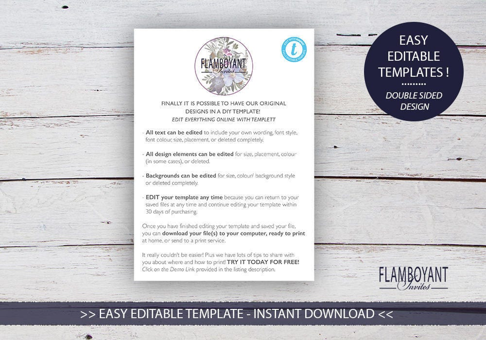 THE DATE Save The Date Card Editable Templates Custom Photo - Design your own save the date template