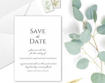 CARA Save the Date Cards - DIY Printable Template