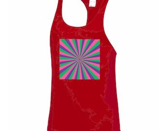 Sports Vest, Red Vest, Red Running Vest, Custom Sport Wear, Men's Vest