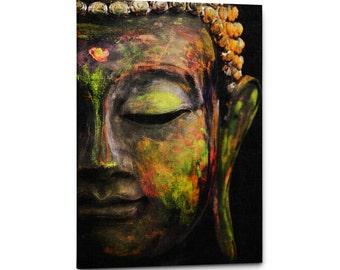 Tranquil Buddha Print Art, Single Panel Canvas, Buddha Wall Art, Buddha  Canvas Print, Zen Decor, Meditation Poster, Yoga Decor