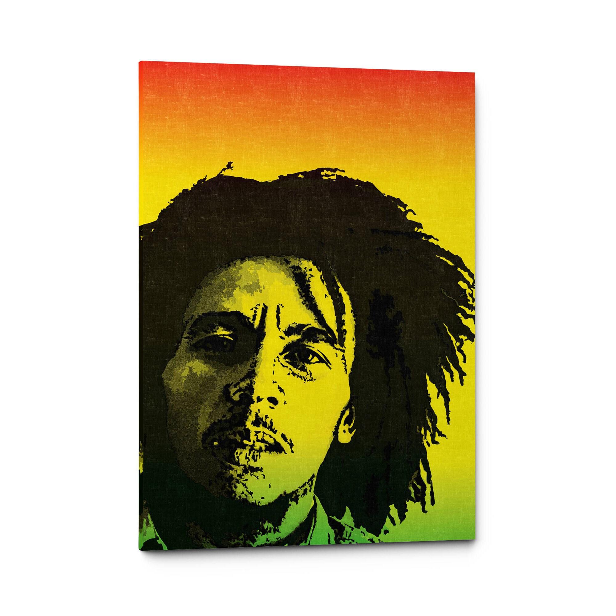 Bob Marley Canvas Art Bob Marley Poster Print Reggae Wall | Etsy