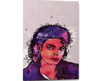 Michael Jackson Canvas Wall Art Print, Michael Jackson Art, King of Pop Poster, Michael Jackson Poster, Celebrity Portrait, Music Poster