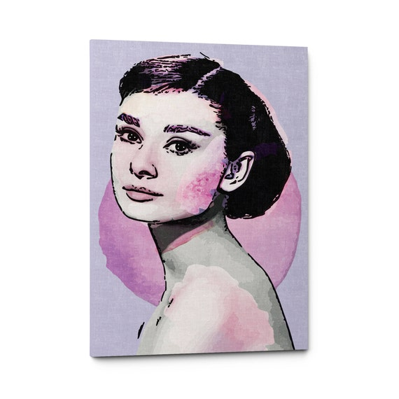 Audrey Hepburn Wall Art Audrey Hepburn Canvas Iconic Wall | Etsy