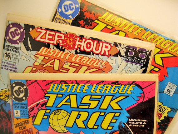 6497478f3348a3 Lot of 3 Vintage Justice League Task Force Comic Books
