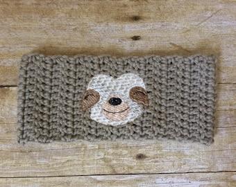 Sloth headband - earwarmer, sloth accessories, headwarmer