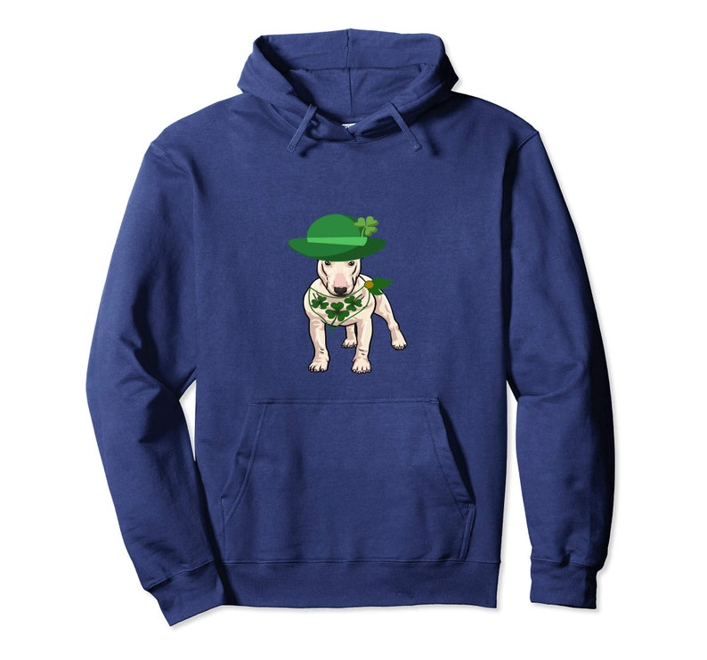 Leprechaun Irish Bull Terrier Green Shamrock Hoodie Sweatshirts