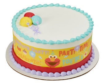 Sesame Street Party Time Edible Cake Side Image Strips