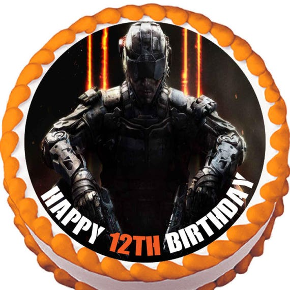 Call Of Duty Black Ops Edible Cake And Cupcake Topper Etsy