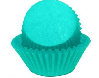 Cupcake Baking Cup Solid Teal