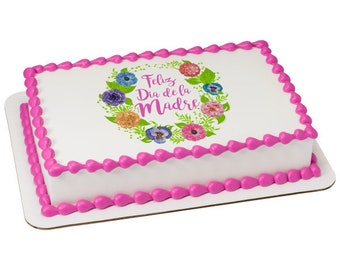 Feliz Dia De La Madre Edible Cake Topper
