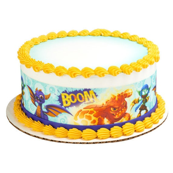 Brilliant Skylanders Boom Edible Cake Side Image Strips Etsy Funny Birthday Cards Online Fluifree Goldxyz