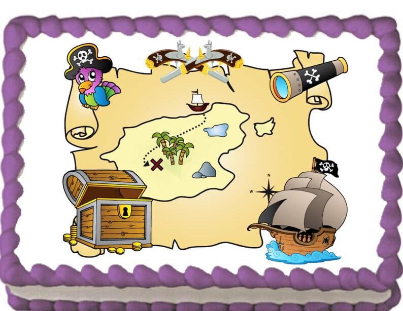 Pirate Edible Cake Cupcake Topper