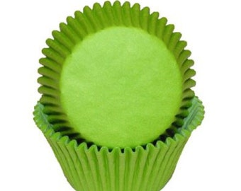 Cupcake Baking Cup Solid Lime Green