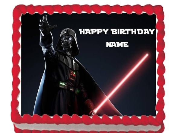 Star Wars Darth Vader Edible Cake Cupcake Topper Etsy