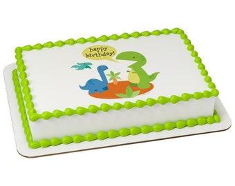 Dino Birthday Edible Cake Topper