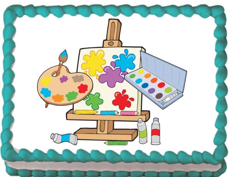 Artists Canvas Edible Cake Cupcake Topper