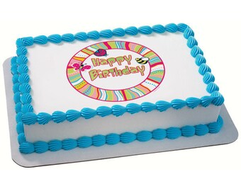 Cutie Pie Birthday Edible Cake Topper