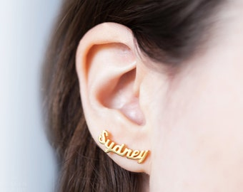 Custom Name Earrings -Personalized Earrings -Stud Name Earrings -Custom Earrings -Pair of Earrings -Gold Earrings -Silver Earrings