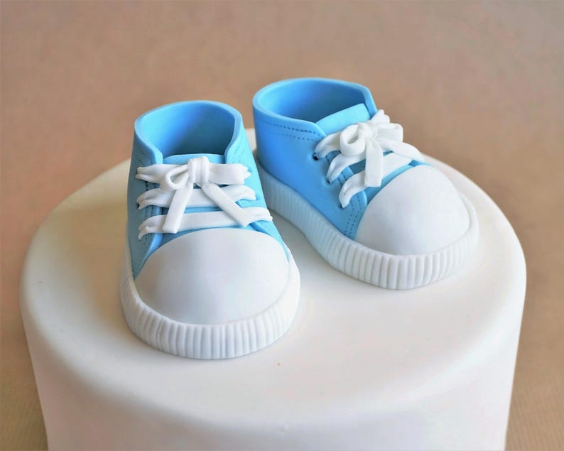 Fondant baby sneakers baby booties fondant shoes fondant image 0