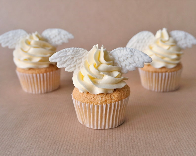 24 fondant wing cupcake toppers angel cupcakes angel topper image 0