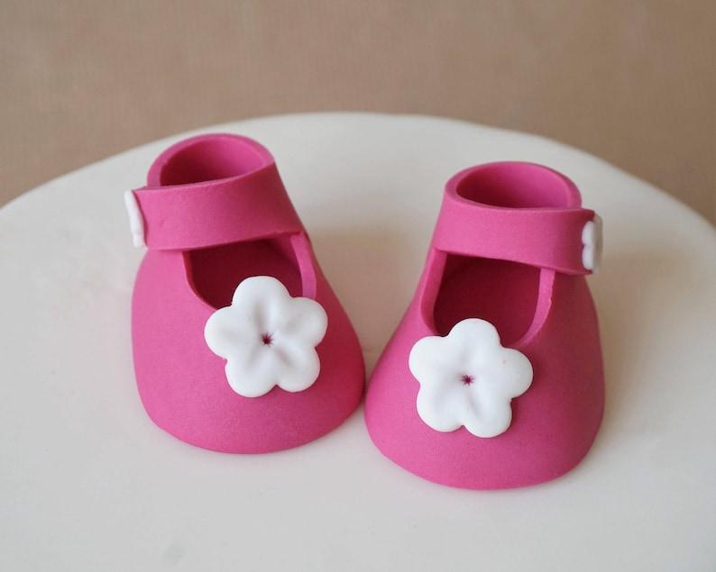 cd45e2a6b3712 Fondant baby girl shoes baby shoes fondant shoes baby | Etsy