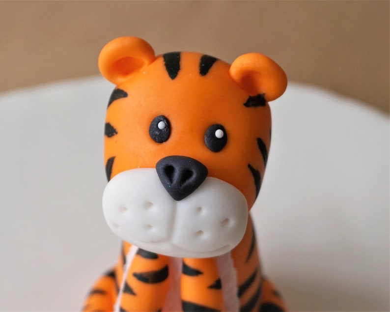 Fondant tiger cake topper for tiger birthday party safari ...