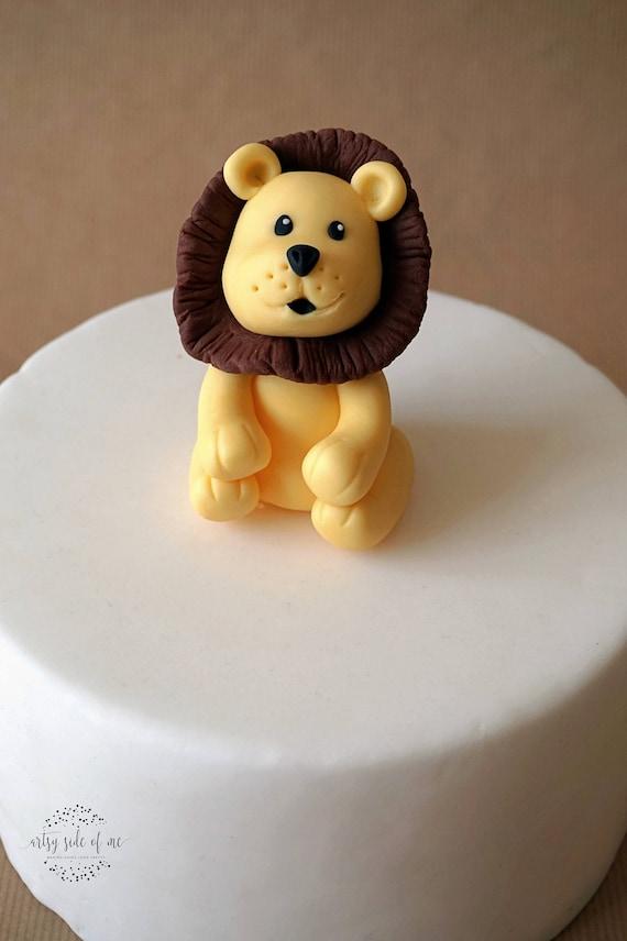 Fantastic Fondant Lion Cake Topper For Lion First Birthday Safari Etsy Funny Birthday Cards Online Overcheapnameinfo