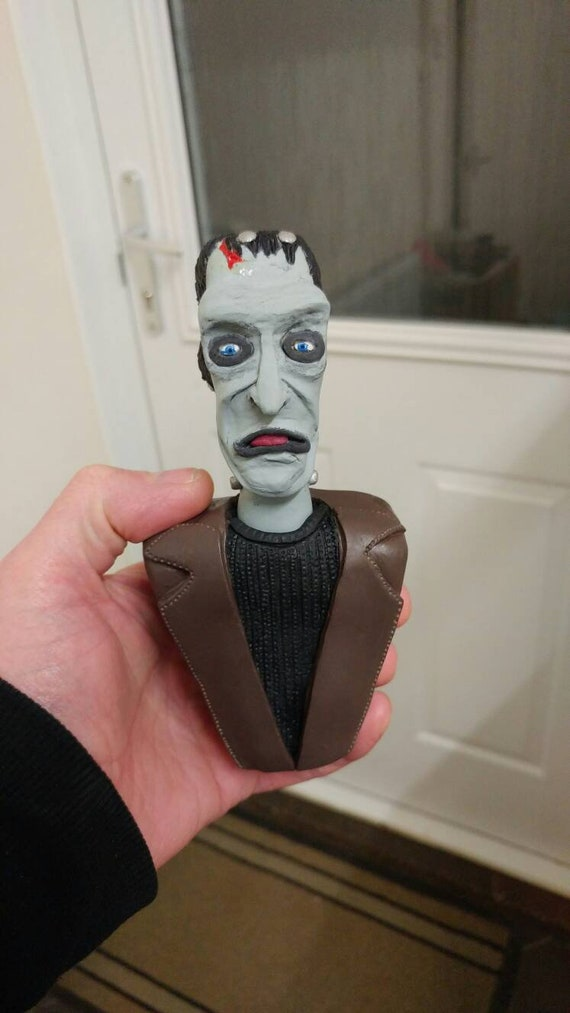"Fred Gwynne Herman Munster Frankenstein Life Mask Bust /""The Munsters/"""