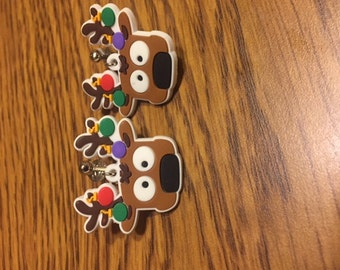 Reindeer clip on earrings