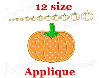 Pumpkin Applique embroidery design. Pumpkin mini  design. Halloween design. Pumpkin Design. Pumpkin embroidery. Machine embroidery.