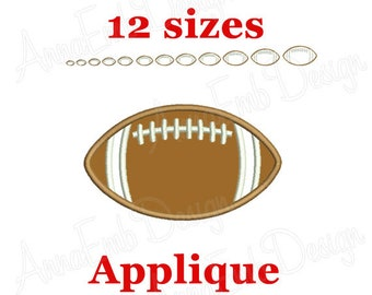 2.1x3.1 12pcs American Football Sport Iron On Sew On Embroidered Patches Appliques Machine Embroidery Needlecraft Sewing Crafts Projects DIY