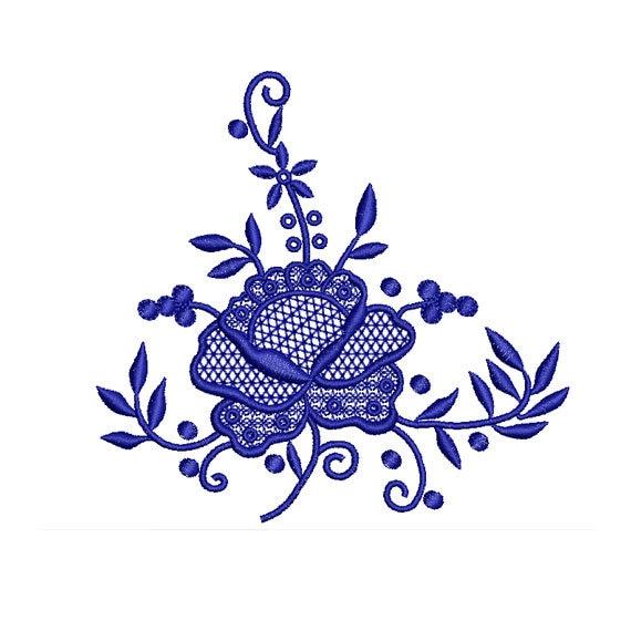 Rose el diseño bordado. Diseño de bordado de flores. Diseño de bordado la  máquina. Diseño de flores populares. Patrón de bordado.