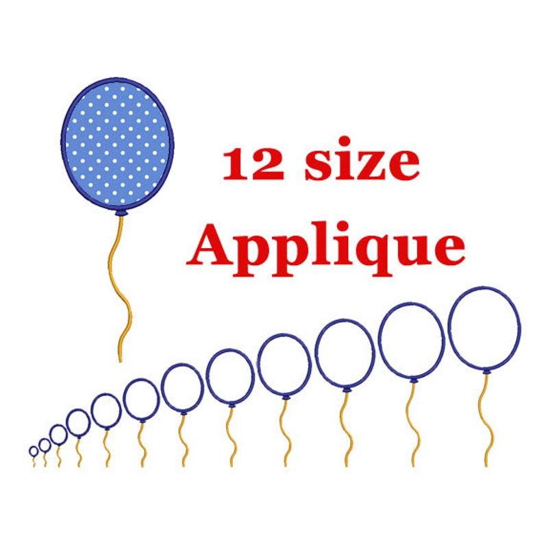 Balloon Applique Machine Embroidery.  Balloon Applique Design. image 0